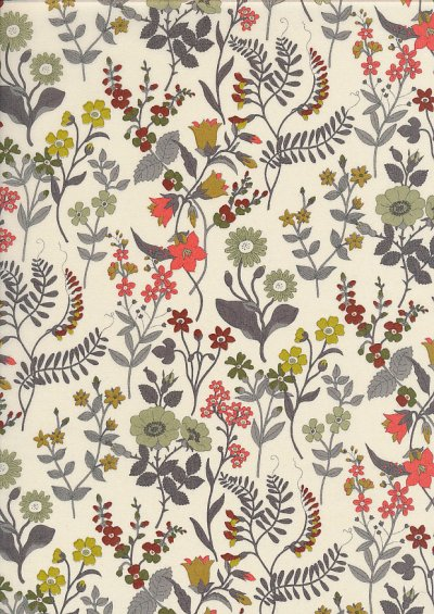 Liberty Cotton Lawn - Flowers & Vines Ivory LOR33