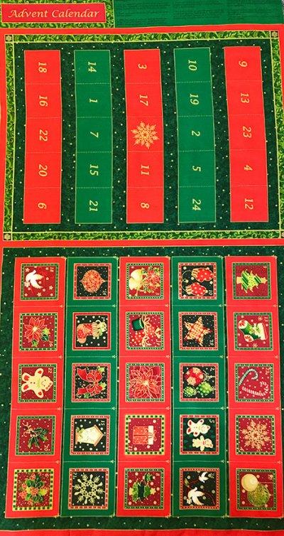 Fabri quilt advent calendar panel seasons greetings 103 518 m4hsunfo
