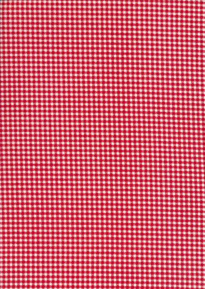 Fabric Freedom - Quality Cotton Print Check FF-5633 Red/White