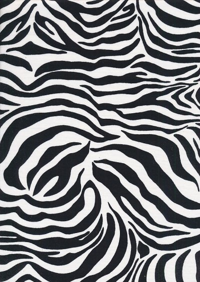 Rose & Hubble - Quality Cotton Print CP-0265 White Zebra Skin