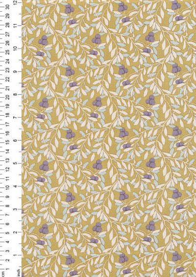 Tilda Fabrics - Maple Farm Cherry Bush Dijon 100280
