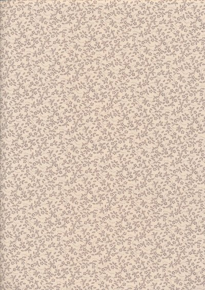 Tonal Sprig - Brown On Cream